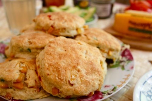 sweet corn biscuits