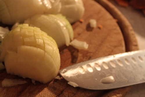 chopped yellow onions