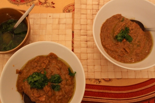 lentil soup with lemon-parsley oil