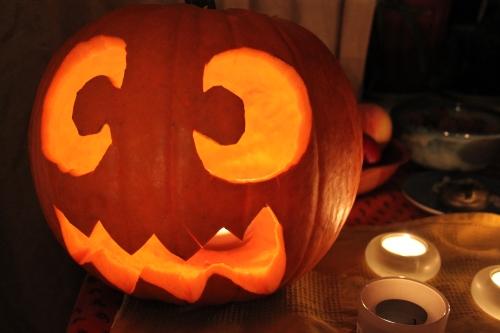 carving a jack-o-lantern